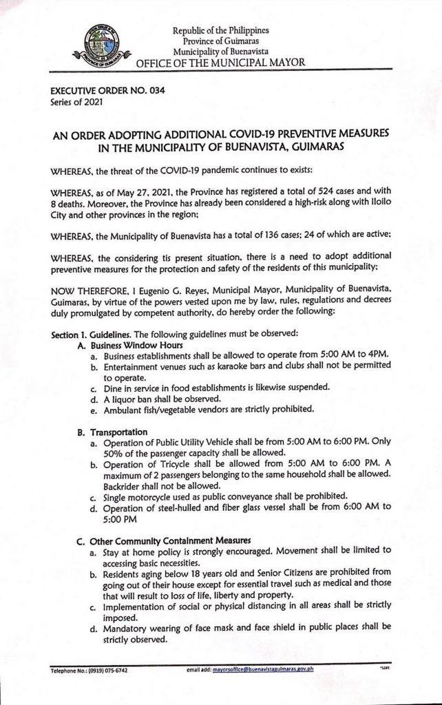 Executive Order No. 34