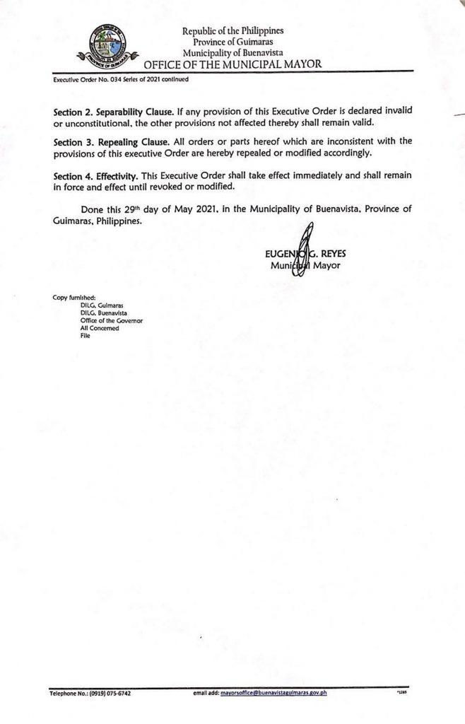 Executive Order No. 34 page 2