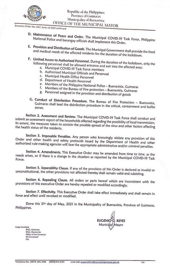 Executive Order No. 037 page 2