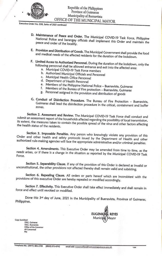 Executive Order No. 038 Page 2