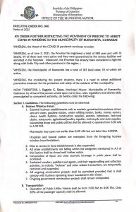 Executive Order 40 page 1 of 3