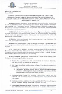 Executive Order No. 052 Page 1 of 2